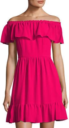 Cynthia Steffe Scarlett Off-the-Shoulder Ruffle Mini Dress