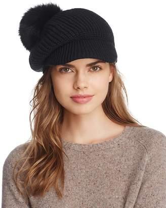 Echo Fox Fur Pom Gibson Girl Hat