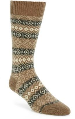 Men's Pantherella Fenton Fair Isle Cashmere Blend Socks $67.50 thestylecure.com
