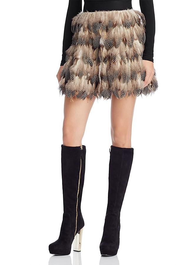 Alice + OliviaAlice + Olivia Cina Feather Mini Skirt