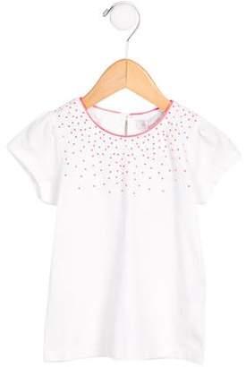 Tartine et Chocolat Girls' Embellished Short Sleeve Top w/ Tags