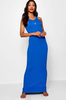 boohoo Racer Front Sleeveless Maxi Dress
