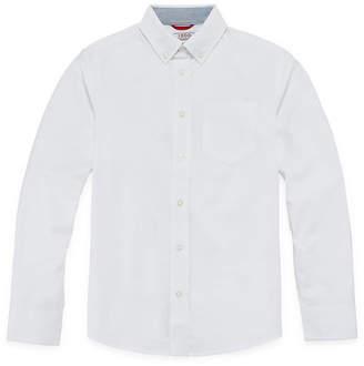 Izod EXCLUSIVE Stretch Oxford Shirt-Boys 4-20