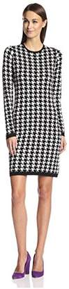 Society New York Women's Houndstooth Jacquard Dress