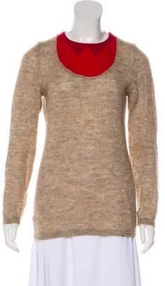 Marni Mohair-Blend Lightweight Sweater Beige Mohair-Blend Lightweight Sweater