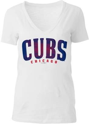 5th & Ocean Women's Chicago Cubs Slubbed Tee