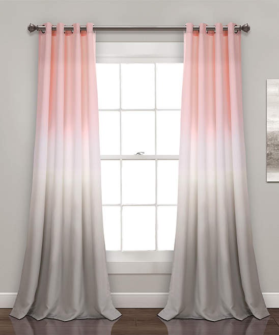 Blush Ombre Fiesta Room-Darkening Curtain Panel - Set of Two