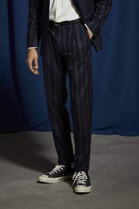 Urban Outfitters Navy Blue Pinstripe Slim Fit Suit Pant
