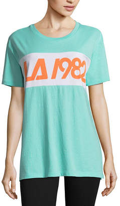 Flirtitude LA 1982 Oversized Tee - Juniors