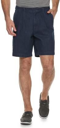 Croft & Barrow Men's Classic-Fit Flex-Tab Pleated Denim Shorts