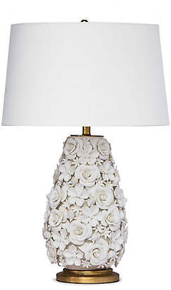 Alice Porcelain Flower Table Lamp - White - Regina Andrew