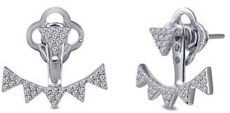 Lafonn Micro Simulated Diamond Pave Adjustable Jacket Earrings