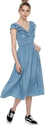 K Lab k/lab V-Neck Ruffle Midi Dress