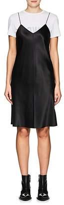 Helmut Lang Women's Zip-Trimmed Silk Minidress
