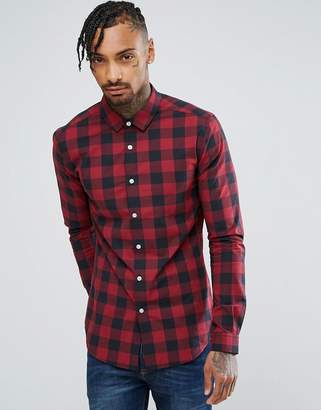 Buffalo David Bitton ASOS DESIGN skinny plaid shirt