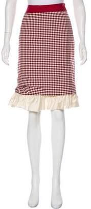 Brock Collection Checkered Knee-Length Skirt