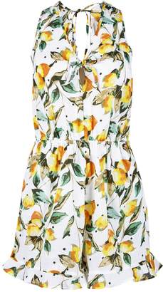 32bae8294b0a1 Dorothy Perkins Womens *Dp Beach White Lemon And Spot Print Playsuit
