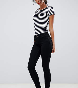 5cdb1308a80 Only Tall skinny leg push up effect jean in black