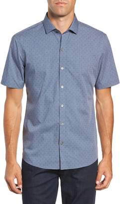 Zachary Prell Huang Regular Fit Dobby Sport Shirt