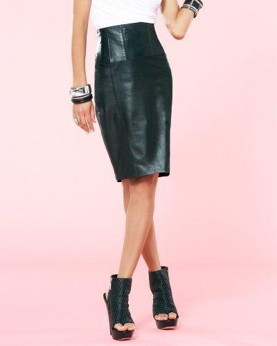 Kardashians by bebe Leather Pencil Skirt