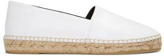Kenzo White Leather Tiger Espadrilles $240 thestylecure.com