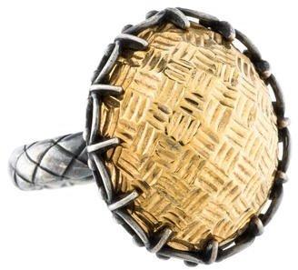 Bottega VenetaBottega Veneta Two-Tone Cocktail Ring