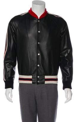 Gucci 2017 Hollywood Leather Bomber Jacket