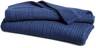 Lauren Ralph Lauren Closeout! Ultra Soft 100% Cotton Zig Zag King Blanket Bedding