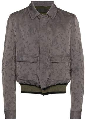 Haider Ackermann floral print wool and cotton blend bomber jacket