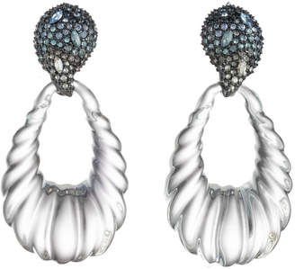 Alexis Bittar Crystal Encrusted Ombre Paisley Rope Teardrop Post Earring