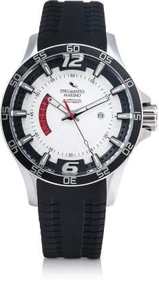 Strumento Marino Hurricane 3 Hands Black Silicon Brushed Stainless Steel Men's Watch