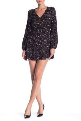 HIATUS Floral Buttoned Wrap Dress