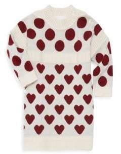 Burberry (バーバリー) - Burberry Burberry Baby Girl's& Little Girl's Mini Heart Dot Sweater Dress - Natural White - Size 12 Months