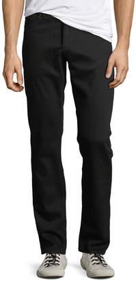 DL1961 Premium Denim Men's Russell Slim Straight Jeans, Black