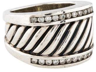 David Yurman Diamond Sculpted Cable Ring