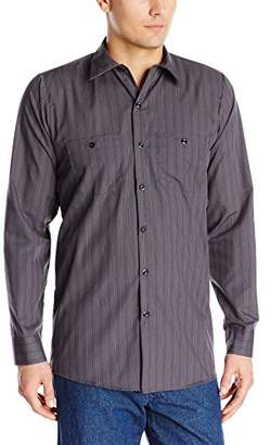 R&K Red Kap Men's RK Industrial Stripe Work Shirt