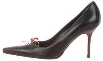 Dolce & Gabbana Leather Pointed-Toe Pumps