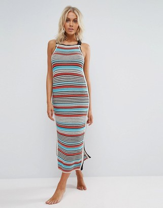 Seafolly Crochet Knit Stripe Dress $181 thestylecure.com