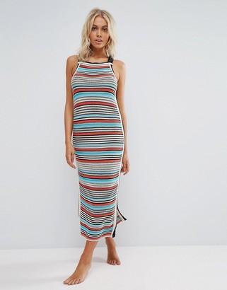 Seafolly Crochet Knit Stripe Dress $172 thestylecure.com