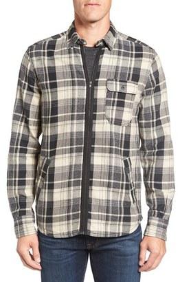 Men's Jeremiah Fargo Zip Flannel Shirt Jacket $110 thestylecure.com