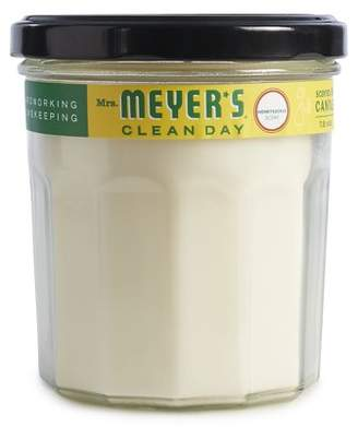 Mrs. Meyer's Clean Day Scented Soy Candle, Large Glass, Honeysuckle, 7.2 Ounces