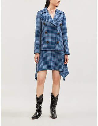 See by Chloe Ladies Dark Blue Checked Woven Blazer
