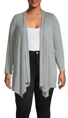 Calvin Klein Plus Classic Long-Sleeve Cardigan