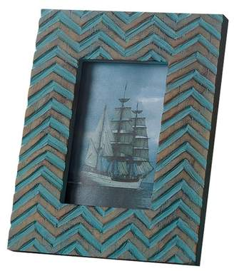 INDIA HANDICRAFTS Vintage Blue Chevron Frame