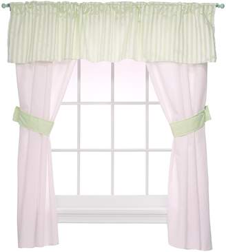 Baby Doll Bedding Candyland 5 Piece Window Valance and Curtain Set