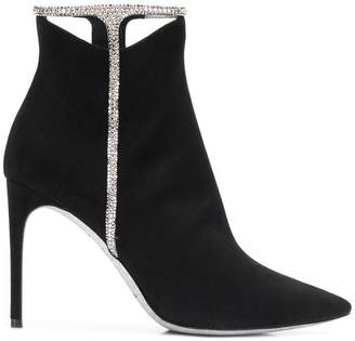 Rene Caovilla jewel embellished ankle boots