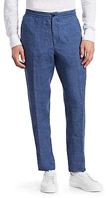 Ermenegildo Zegna Men's Washed Linen Pants