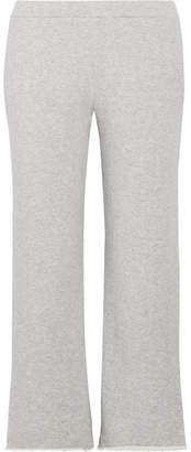 Simon Miller Canal Frayed French Cotton-terry Track Pants - Light gray