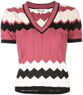 Diane von Furstenberg Janelle v-neck knit top