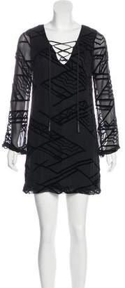 Twelfth Street By Cynthia Vincent Silk Blend Mini Dress